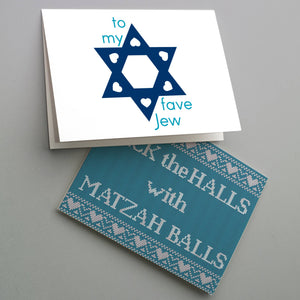 Hanukkah Cards Funny Adult Greetings - 24 Pack