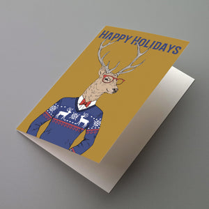 Funny Animal Christmas Cards - 24 Pack