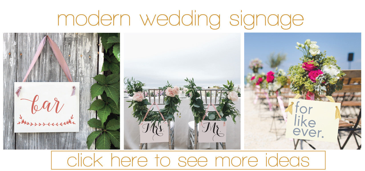 Wedding Reception Signage Trends