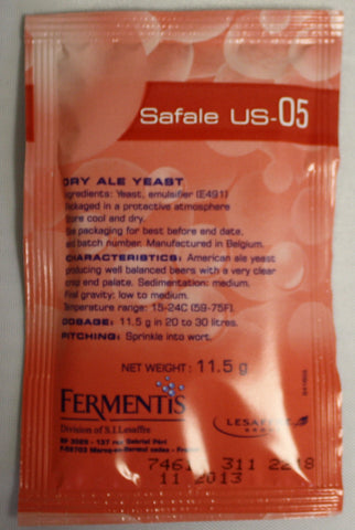 SAFAle US-05 Dry Yeast