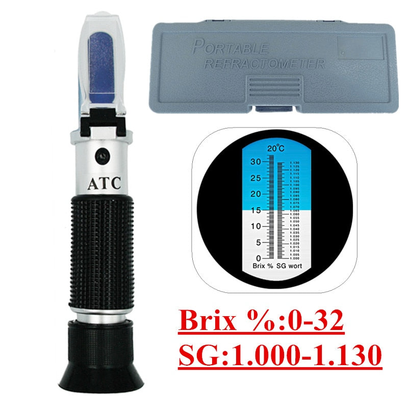 Beer Wine Refractometer with ATC