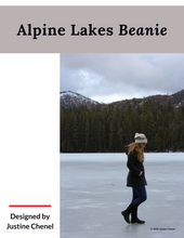 Load image into Gallery viewer, Pattern Alpine Lakes Beanie (Hard copy with Ravelry download code)