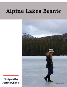 Pattern Alpine Lakes Beanie (Hard copy with Ravelry download code)