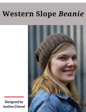 Load image into Gallery viewer, Western Slope Beanie (Hard copy with Ravelry download code)