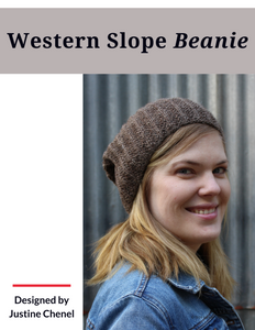Western Slope Beanie (Hard copy with Ravelry download code)