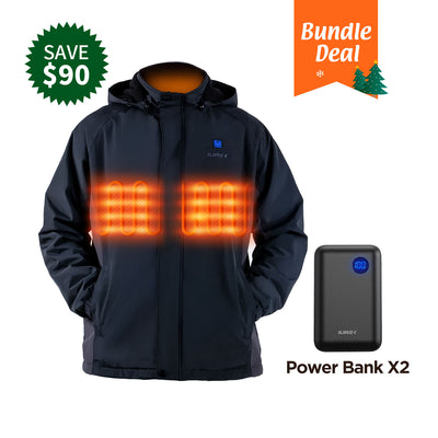 ZD961 men's heated jacket bundle sale