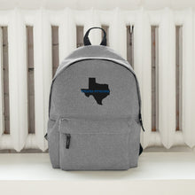 "Load image into Gallery viewer, Embroidered Backpack ""TEXAS STRONG"""