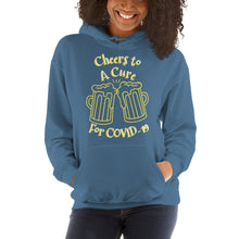 "Load image into Gallery viewer, Unisex Hoodie ""CHEERS TO A CURE"""