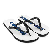 Load image into Gallery viewer, STOMP OUT COVID-19 FLIP FLOPS