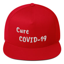 "Load image into Gallery viewer, Flat Bill Cap ""CURE COVID-19"""