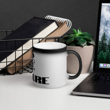 "Load image into Gallery viewer, Matte Black Magic Mug ""CUPS FOR A CURE"""