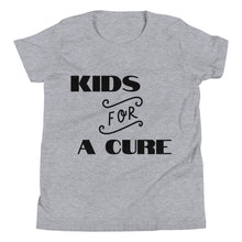"Load image into Gallery viewer, Youth Short Sleeve T-Shirt ""KIDS FOR A CURE"""