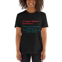 "Load image into Gallery viewer, Short-Sleeve Unisex T-Shirt ""PRAYER AGAINST CORONAVIRUS"""