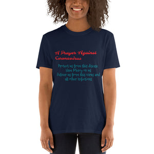 "Short-Sleeve Unisex T-Shirt ""PRAYER AGAINST CORONAVIRUS"""