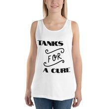 "Load image into Gallery viewer, Unisex Tank Top ""FOR A CURE"""