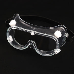 Goggles Protective Safety Glasses Anti-Fog Clear Lens Eye Protection for Lab, Chemical, Workplace, Outside (4-Vent)