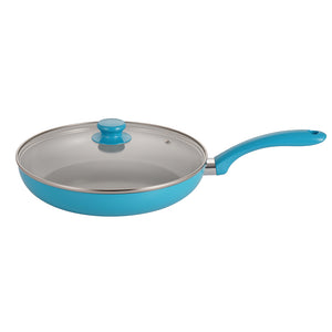 Mirazur Non-Stick Cookware Ceramic 15 Piece Pots And Pans Sets with Bakelite Handles Frying Pan Saucepan Casserole Blue