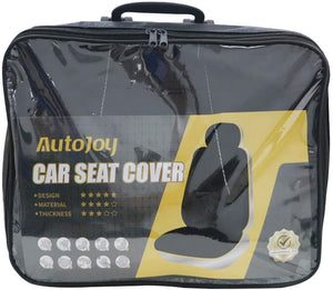 Car Seat Covers Full Set, (Black/Grey) Universal Bucket Automotive Seat Covers Fit Most Car,Vans,SUV