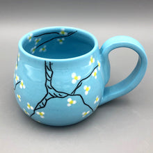 Load image into Gallery viewer, Mug (12oz) - Almond blossom design on stained porcelain
