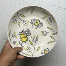 Load image into Gallery viewer, Bowl (16oz coupe) - Bee design on porcelain