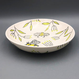 Bowl (16oz coupe) - Bee design on porcelain