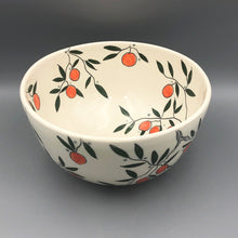 Load image into Gallery viewer, Bowl (large/centerpiece) - Orange design on porcelain