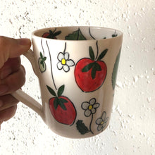 Load image into Gallery viewer, Mug (12oz) - Strawberry design on porcelain