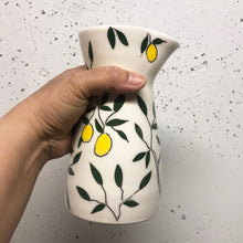 Load image into Gallery viewer, Pitcher or pourer (large 20oz) - Lemon design on porcelain