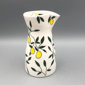 Pitcher or pourer (large 20oz) - Lemon design on porcelain