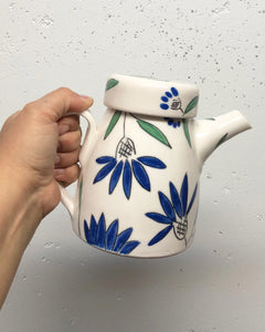 Teapot (24 oz/700ml) - Made to order. Choose your botanical design on porcelain