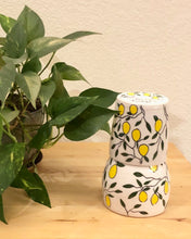 Load image into Gallery viewer, Water carafe or pitcher - lemon design on porcelain
