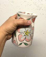Load image into Gallery viewer, Pitcher or pourer (14oz) - Apple blossom design on porcelain