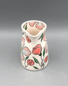 Pitcher or pourer (14oz) - Apple blossom design on porcelain