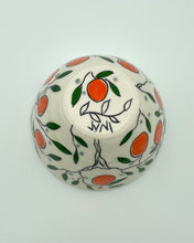 Load image into Gallery viewer, Bowl (small - 8-10oz) - Orange design on porcelain