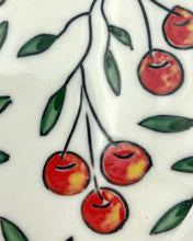 Load image into Gallery viewer, Mug (12oz) - Cherry design on porcelain (belly mug style)