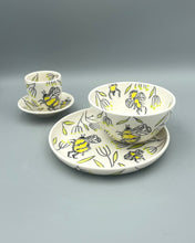 "Load image into Gallery viewer, Plate (small 8"") - Bee design on porcelain"