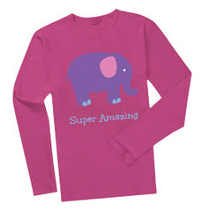 1 Shirt - Super Amazing Long-sleeve (Pink & White)