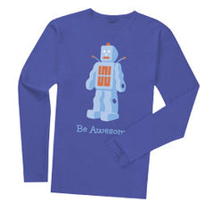 1 Shirt: Be Awesome Long-sleeve (Blue)