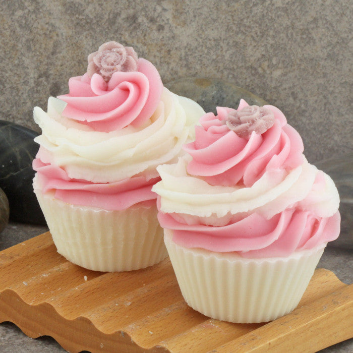 Crisp Apple Rose Scented Bakery Cupcake Soap - Cold Process