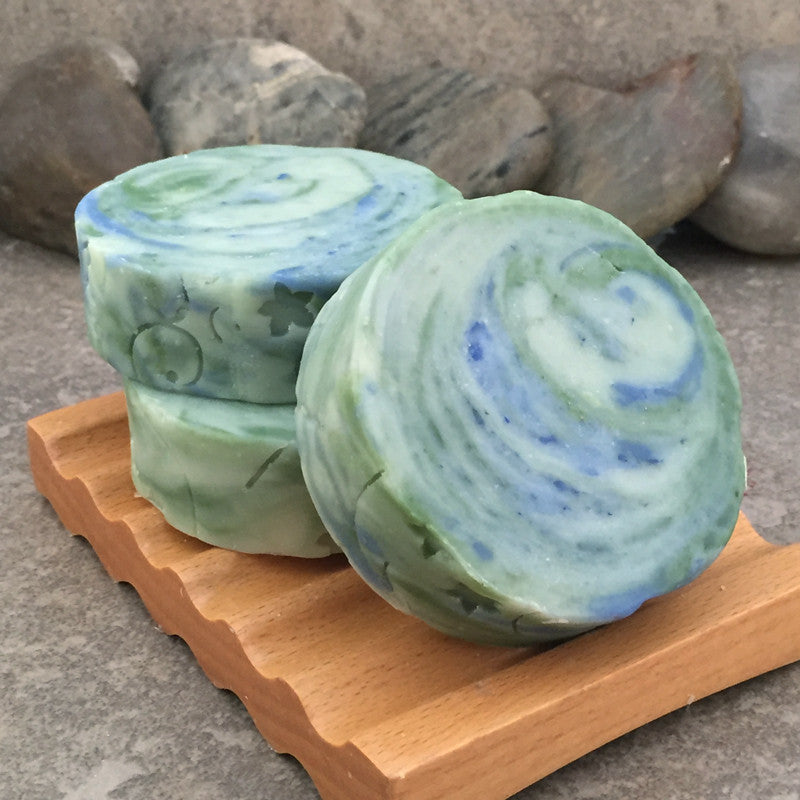 Juniper and Aloe Handcrafted Artisan Round Soap