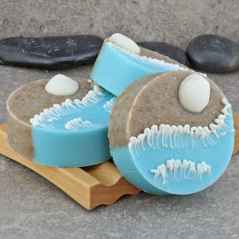 Handcrafted Decorative Soap - A Day at the Beach, Surf and Shore Round