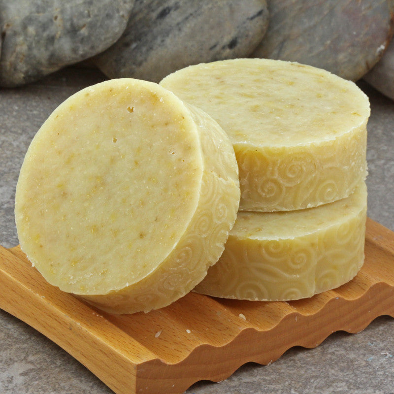 Calendula Herbal Handcrafted Cold Process Round Soap Bar