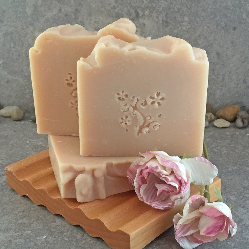 Champagne and Roses Cold Process Soap - Made with Real Champagne
