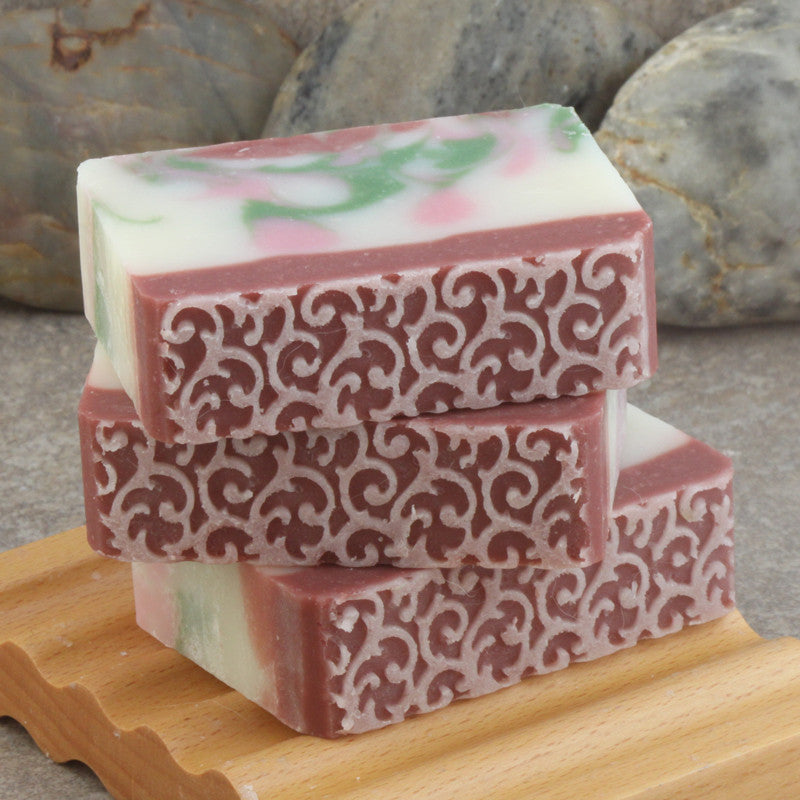 Delicate Floral Garden Handcrafted Soap with Lace Decorative Top