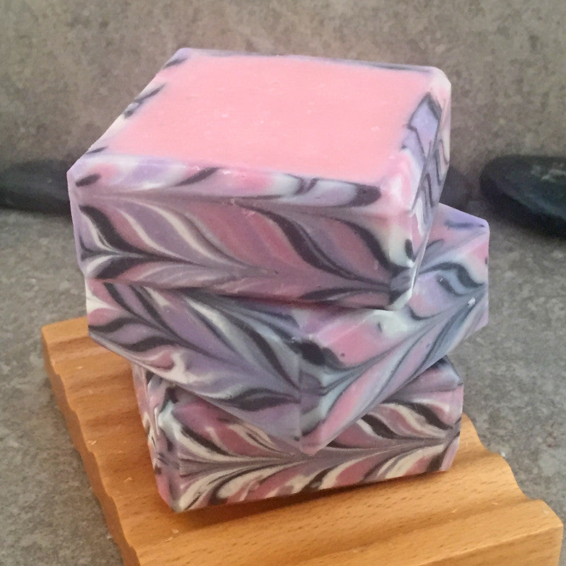 Market Florals Rimmed Cold Process Soap Square