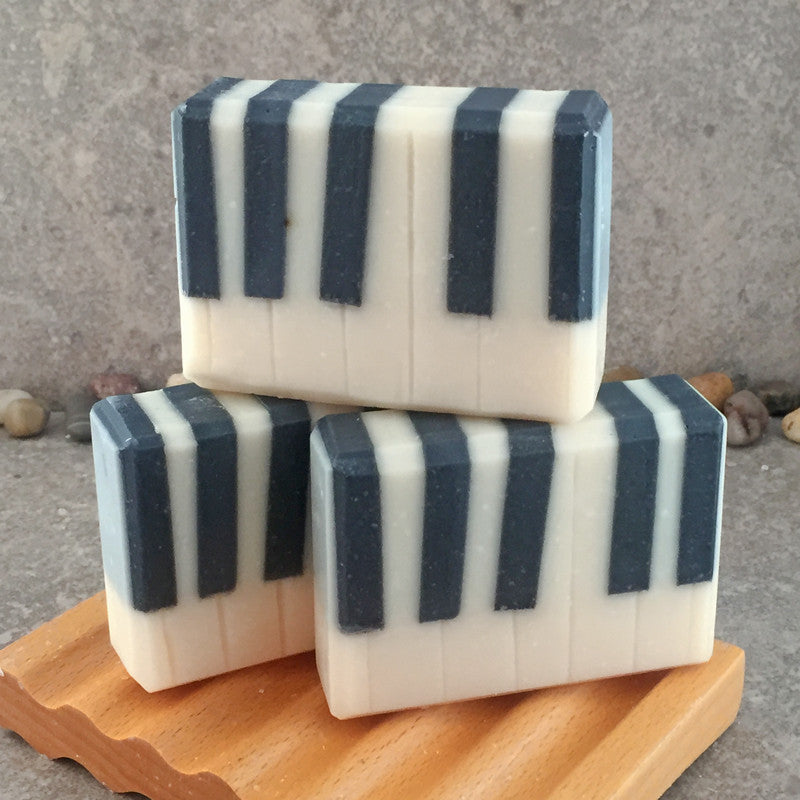 Piano Keys Black and Ivory Soap in a White Ginger and Amber Fragrance