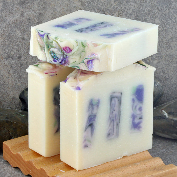Plumeria Scented Decorative Soap with Colorful Swirled Embeds