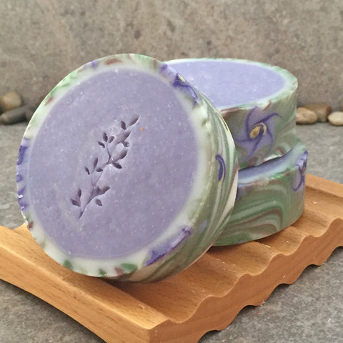 Artisan Rimmed Soap in a Spring Floral with Honeysuckle Fragrance