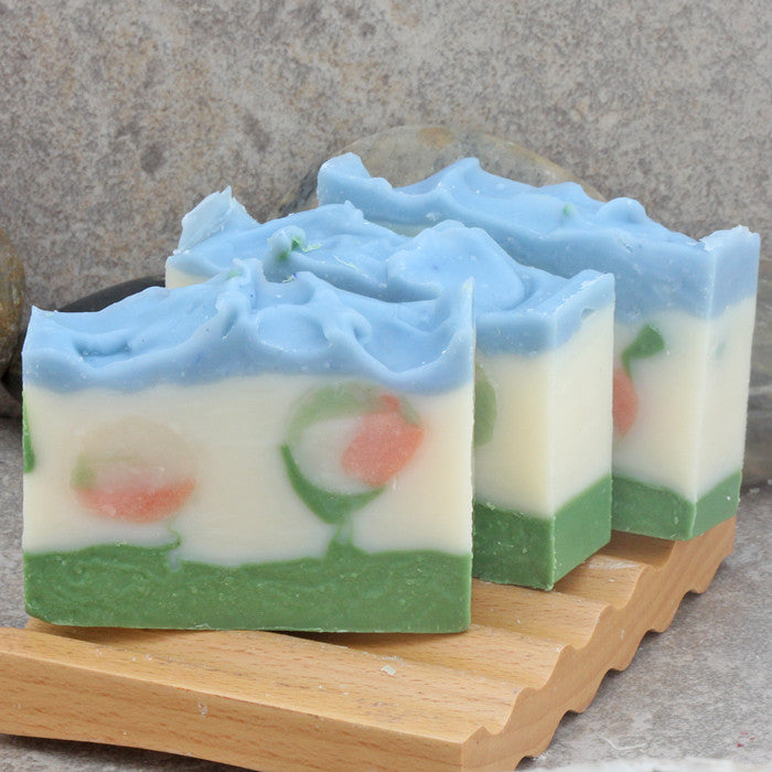 Summer Garden Floral Scented Cold Process Decorative Soap with Coconut Milk