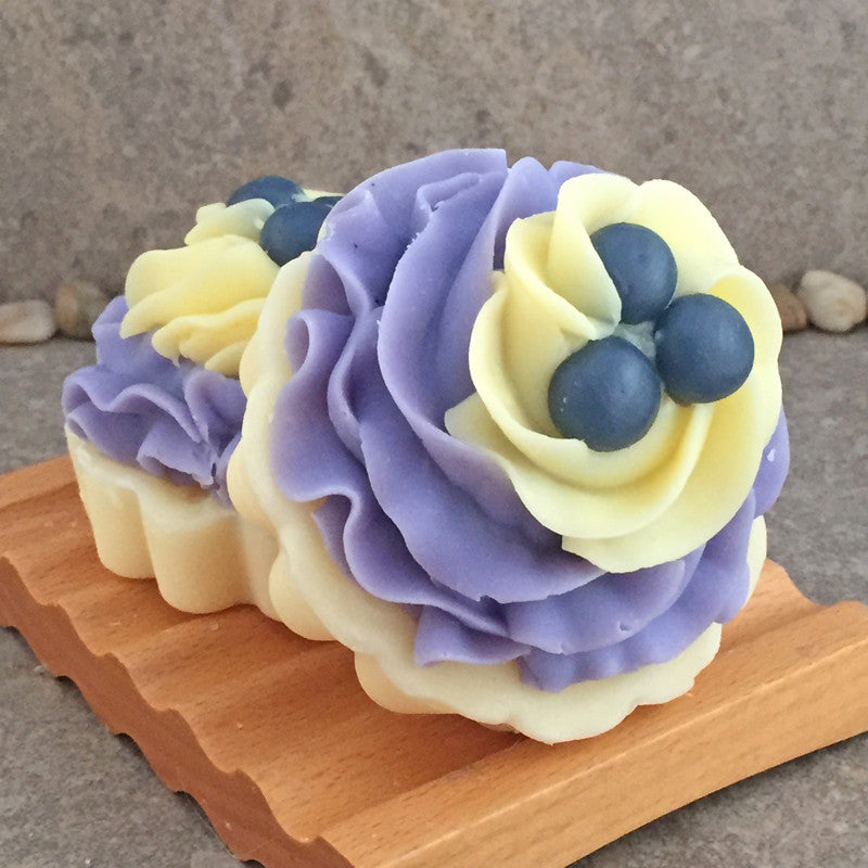 Blueberry Lemon Verbena Scented Bakery Mni Tart Soap - Cold Process